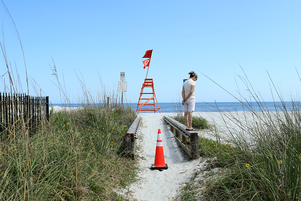 Jacksonville Beach「Coronavirus Pandemic Causes Climate Of Anxiety And Changing Routines In America」:写真・画像(13)[壁紙.com]