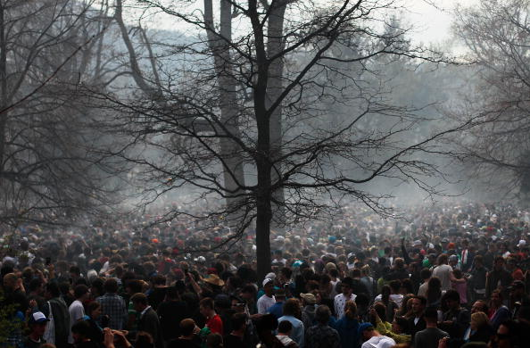 Cannabis Store「U.S. Marijuana Enthusiasts Gather For Mass Pot-Smoking Celebration」:写真・画像(10)[壁紙.com]