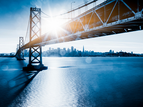 Mode of Transport「Bay Bridge and skyline of San Francisco」:スマホ壁紙(4)