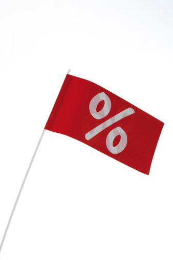 Percentage Sign「White percent sign on red flag, symbol for bargain」:スマホ壁紙(17)