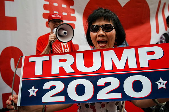 2020「Pro-Trump Supporters Rally At Trump Tower As President Announces Re-Election Bid」:写真・画像(6)[壁紙.com]