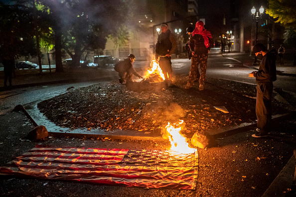 Burns - Oregon「People React To Election Results In Streets Of Portland」:写真・画像(0)[壁紙.com]