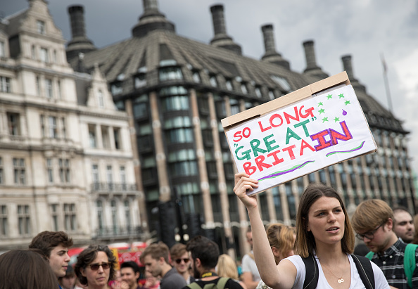 European Union「Anti-Brexit Protestors Gather At Parliament」:写真・画像(16)[壁紙.com]