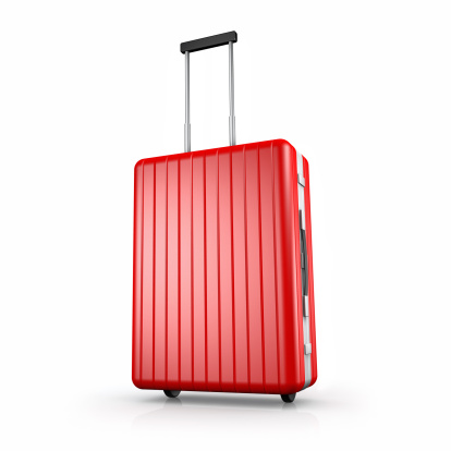 Journey「Clean red suitcase with extended handle, on white」:スマホ壁紙(18)