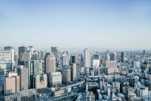 Skyline View Over Osaka, Japan:スマホ壁紙(壁紙.com)