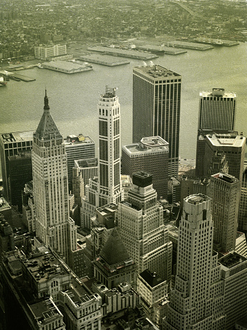 1980「Skyline View of Financial District from World Trade Center」:スマホ壁紙(11)