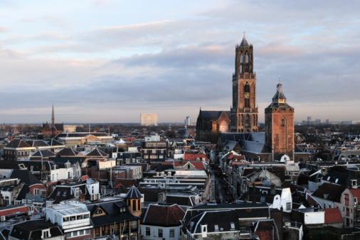 Utrecht「Skyline view of Utrecht in the Netherlands」:スマホ壁紙(0)