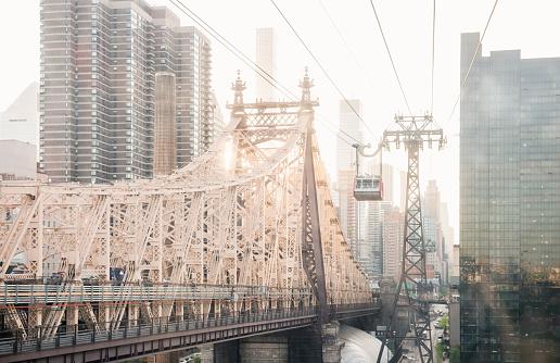 Aerial tramway「NYC Skyline View of Queensboro Bridge From Tram Window」:スマホ壁紙(16)