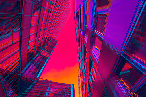 Digital Composite「Vibrant architecture」:スマホ壁紙(6)