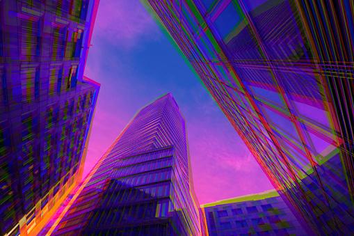 Multiple Exposure「Vibrant architecture」:スマホ壁紙(0)