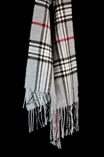 タータンチェック「グレイの格子柄スカーフ」:スマホ壁紙(0)