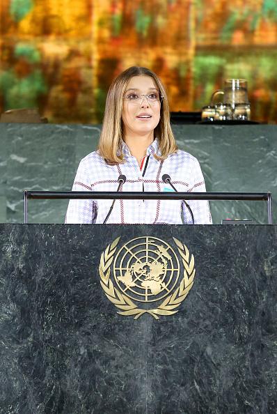 2019年「UNICEF Goodwill Ambassadors David Beckham And Millie Bobby Brown Headline UN Summit To Demand Rights For Every Child On World Children's Day 2019」:写真・画像(13)[壁紙.com]