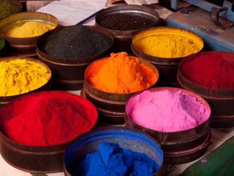 Market Stall「Fabric dyes in Cuzco, Peru」:スマホ壁紙(4)