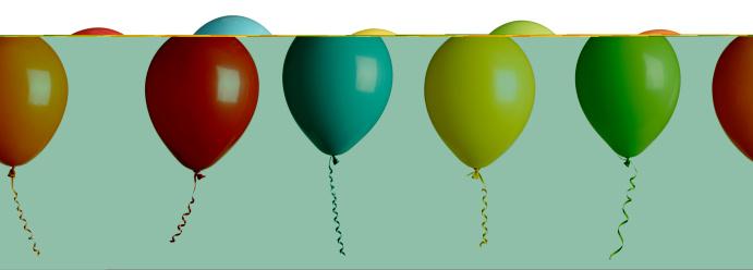 Balloon「party balloons isolated on white」:スマホ壁紙(17)