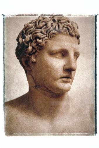 Bust - Sculpture「Roman copy of classical Greek head (transfer image)」:スマホ壁紙(0)