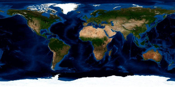 Map of the world「Topographic & bathymetric shading of full earth.」:スマホ壁紙(12)
