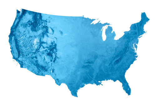 Layered「USA Topographic Map Isolated」:スマホ壁紙(1)