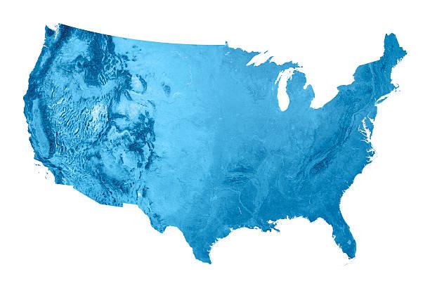USA Topographic Map Isolated:スマホ壁紙(壁紙.com)
