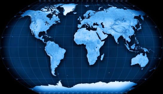 Latitude「Topographic World Map Kavraisky VII Projection」:スマホ壁紙(18)