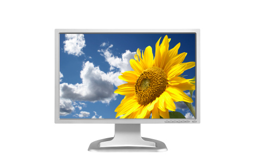 Video Still「Wide LCD monitor (clipping path), isolated on white background」:スマホ壁紙(17)