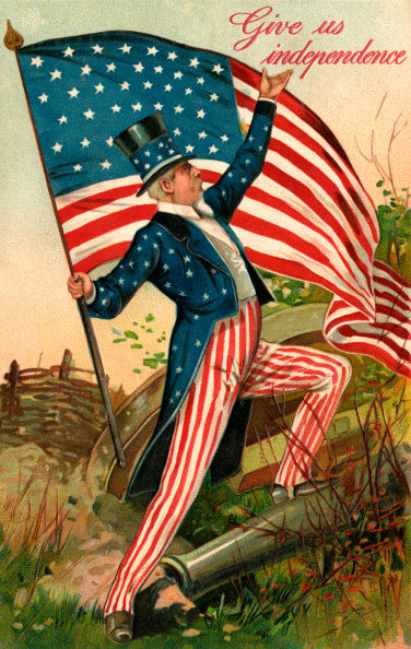 1900-1909「Uncle Sam with American Flag」:写真・画像(5)[壁紙.com]
