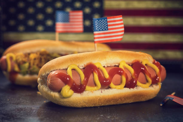American Hotdog for 4th of July:スマホ壁紙(壁紙.com)