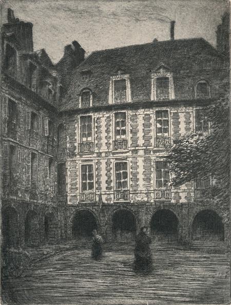 Avenue「'Maison de Victor Hugo, Places des Vosges', 1915」:写真・画像(19)[壁紙.com]