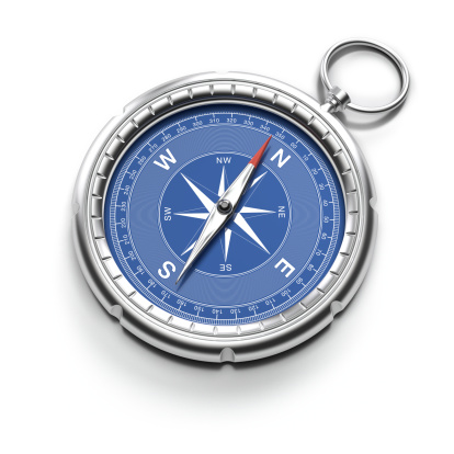 East「Compass pointing to North with clipping path」:スマホ壁紙(18)