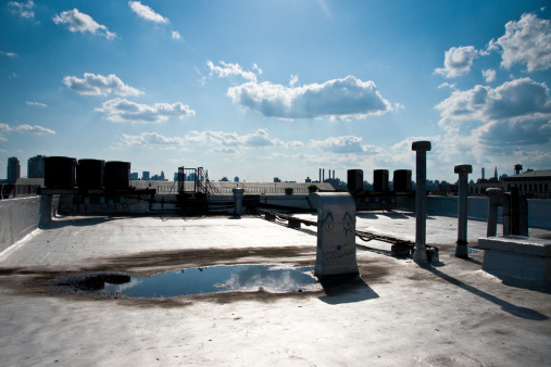 Funky「Brooklyn Rooftop with Manhattan Skyline as Background」:スマホ壁紙(11)