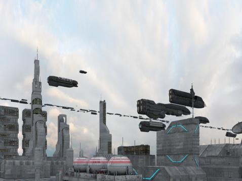 Fantasy「宇宙船街にお越しの際は、」:スマホ壁紙(3)