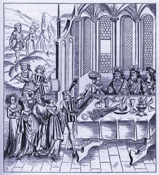 Woodcut「Medieval State Banquet」:写真・画像(8)[壁紙.com]
