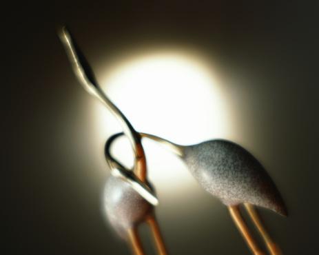 お正月「Figurine of crane」:スマホ壁紙(18)