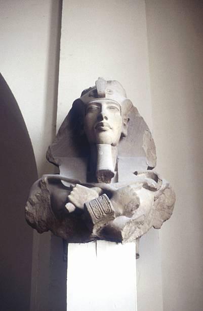 Carved head of king Akhenaton, Ancient Egypt:スマホ壁紙(壁紙.com)