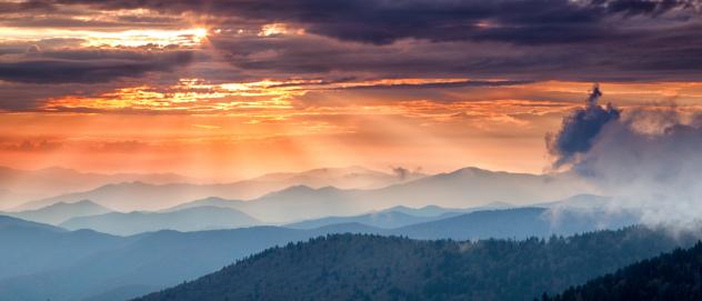 Great Smoky Mountains National Park「Mountain Sunset」:スマホ壁紙(3)