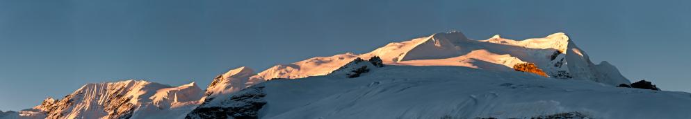 Khumbu「Mountain summit sunrise Mera Peak glacier route panorama Himalayas Nepal」:スマホ壁紙(4)