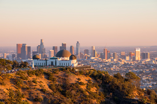 City Of Los Angeles「Downtown Los Angeles and Griffith Observatory at Sunset」:スマホ壁紙(4)