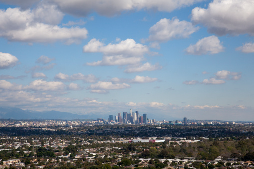 City Of Los Angeles「Downtown Los Angeles on clear sunny day.」:スマホ壁紙(7)