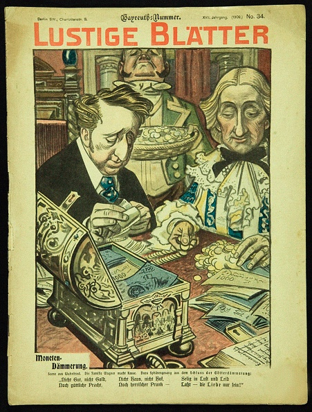 Chromolithograph「Twilight Of The Coins. Caricature From Lustigen Blätter. Berlín. No 34」:写真・画像(16)[壁紙.com]