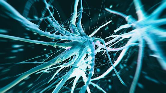 Neuroscience「Neuron cell close-up view」:スマホ壁紙(9)