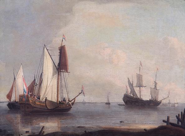 17th Century「Dutch Shipping In A River,」:写真・画像(11)[壁紙.com]