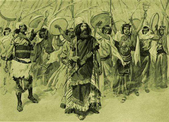 お祝い「Festivities in honour of David by J James Tissot」:写真・画像(13)[壁紙.com]