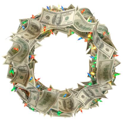 American One Hundred Dollar Bill「Money Wreath」:スマホ壁紙(9)