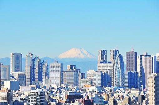 富士山「Shinjuku and Mt Fuji」:スマホ壁紙(7)