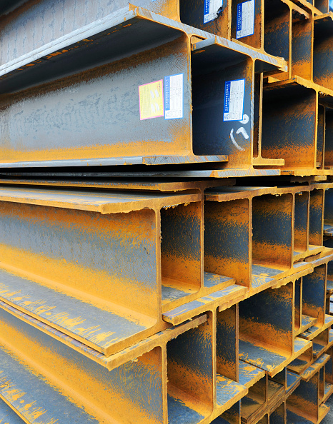 Full Frame「Girders on sale at a steel products construction market in Langfang, Hebei province, China」:写真・画像(8)[壁紙.com]