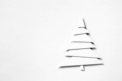 クリスマスカード「紙のクリスマスツリー」:スマホ壁紙(2)