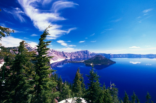 Crater Lake National Park「Wizard Island in Crater Lake」:スマホ壁紙(5)