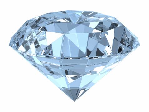 Clip Art「Close of up a diamond on white background」:スマホ壁紙(10)
