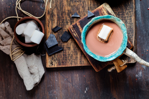 Cocoa「Hot cocoa with marshmellows and dark chocolate」:スマホ壁紙(10)