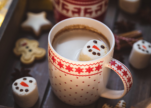 Atmosphere「Hot Cocoa with marshmallows in a cozy Christmas atmosphere」:スマホ壁紙(19)