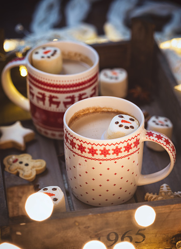 Atmosphere「Hot Cocoa with marshmallows in a cozy Christmas atmosphere」:スマホ壁紙(16)